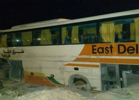 الدفع بـ25 سيارة إسعاف لنقل مصابي حادث الطريق الدولي بأبو زنيمة