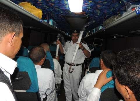 محافظ مطروح ومدير الأمن يودعان 103 من حجاج القرعة