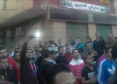 مظاهرة أمام لجنة في المعادي لرفضهم تصرفات أحد المرشحين