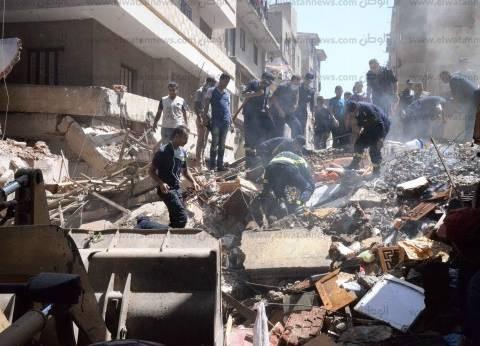استخراج ربة منزل وابنتها من بين أنقاض منزل منهار بسوهاج