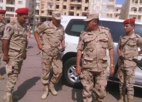 رئيس أركان الجيش الثالث يتفقد سير الانتخابات بلجان الغردقة