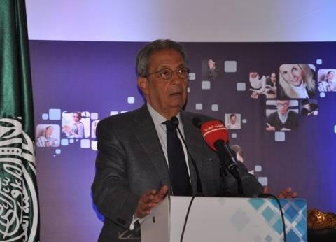 عمرو موسى: جامعة النيل تهدف لتخريج باحثين أكفاء.. وغير هادفة للربح