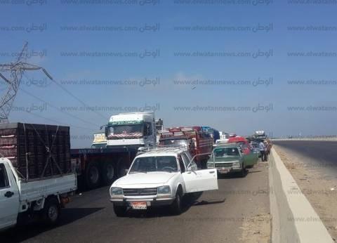 عاجل| صيادو بحيرة البرلس يقطعون الطريق الدولي الساحلي