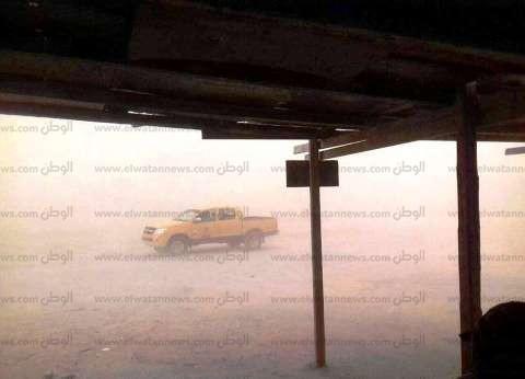 أمطار غزيرة وعاصفة ترابية شديدة بالبحر الأحمر