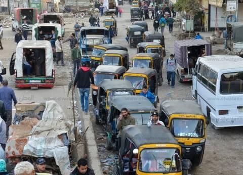 """حجز 33 """"توك توك"""" في حملات مرورية مكبرة بالقاهرة"""