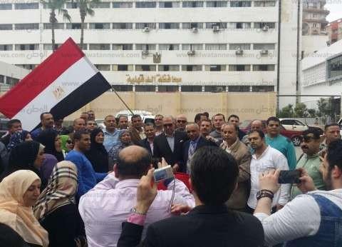 قيادات كهرباء الدقهلية ينظمون مسيرة من الشركة للجان الانتخابات