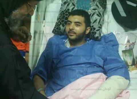الأنبا مرقس يزور مصابي طنطا في مستشفيات القوات المسلحة