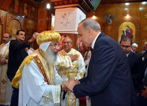 محافظ القليوبية يشارك في قداس عيد القيامة المجيد في بنها