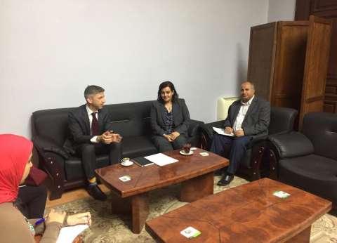 محرز تبحث مع سفير قبرص التعاون في الإنتاج السمكي والمفرخات البحرية