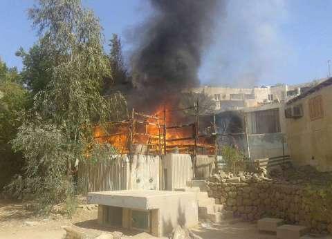 نشوب حريق في مخلفات قش الأرز واحتراق أحد المنازل بكفر الشيخ