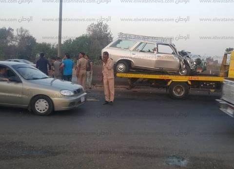 وفاة شاب وإصابة اثنين في حادث تصادم بالشرقية