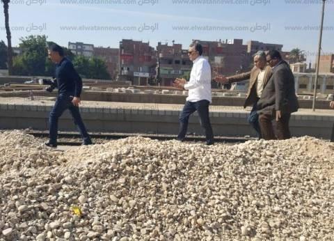 بالصور| وزير النقل يتفقد أعمال التطوير بمحطة سكة حديد أبوتيج