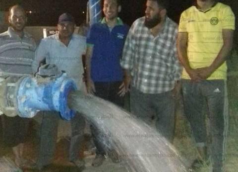 بالصور| تشغيل بئرين لمياه الشرب بمنطقة سهل القاع في طور سيناء
