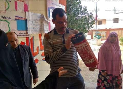 مدير أمن تعليم الغربية يرصد ملاحظات في وسائل الأمان بمدارس شرق طنطا