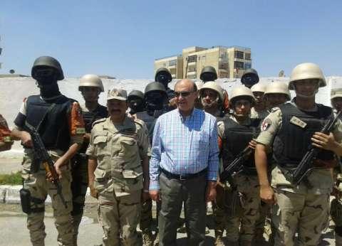 مميش يتفقد قوات تأمين المجرى الملاحي ومواقع هيئة قناة السويس