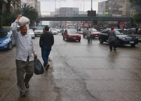 أمطار غزيرة تضرب شوارع الغربية.. وتعطل حركة المرور في المحافظة