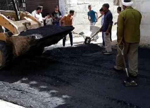 استكمال أعمال رصف وتطوير ورفع كفاءة الشوارع والميادين بأسيوط