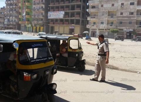 ضبط وتحرير 1281 مخالفة مرورية بالإسماعيلية