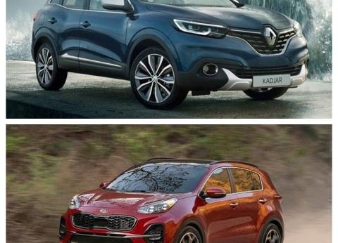 """قبل الشراء.. مقارنة بين سيارتي """"رينو كادجار"""" و""""كيا سبورتاج"""" 2020"""