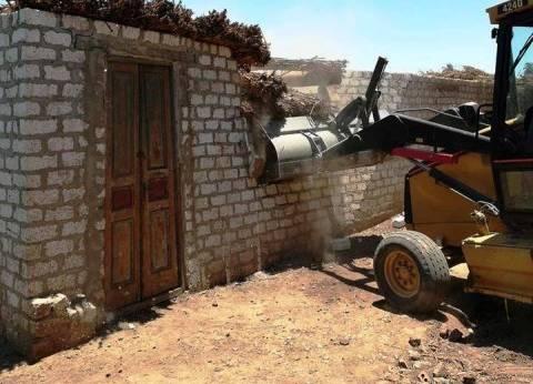 إزالة 12 حالة تعد على الأراضي الزراعية بسوهاج