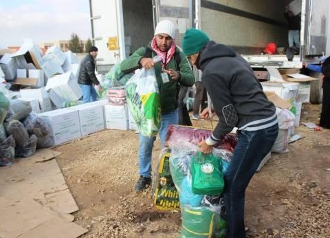 الحملة الوطنية السعودية توزع مساعدات إغاثية على 517 أسرة سورية بالأردن