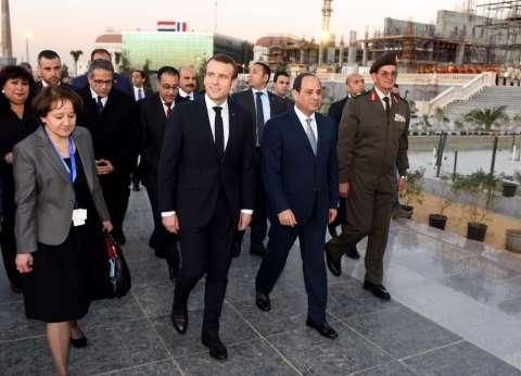 الرئيس الفرنسي يغادر القاهرة بعد زيارة الـ3 أيام