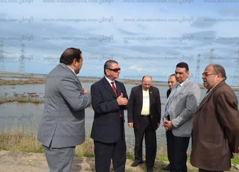 بالصور| محافظ كفر الشيخ يتفقد مواقع إنشاء مشروعات تنموية ببر بحري