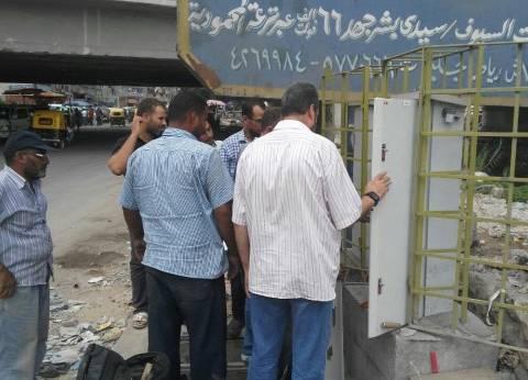 محافظ الإسكندرية يشدد على ضرورة إنارة شوارع شرق والعجمي والجمرك