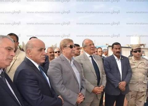 بالصور  وزير التنمية المحلية يصل الإسماعيلية ليتابع تطوير الطرق