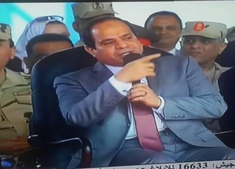 """السيسي لـ""""المصريين"""": انخفاض أسعار السلع الغذائية خلال ديسمبر المقبل"""