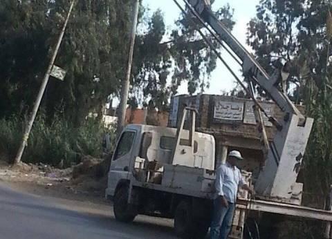 إنارة وإصلاح أعطال الإضاءة بشوارع جمرك الإسكندرية