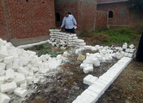 إزالة 8 مقابر على الأرض الزراعية في الدقهلية