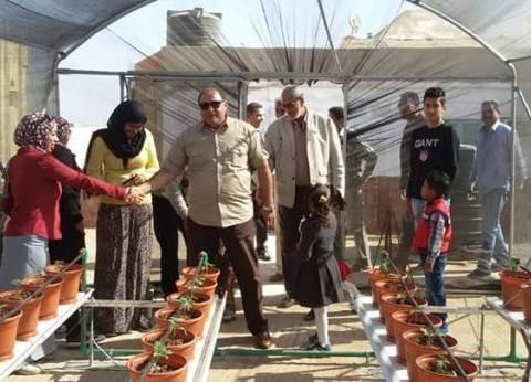 رئيس مدينة مرسى علم يفتتح أول صوبةزراعية على أسطح المنازل