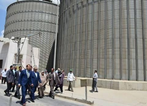 محافظ الشرقية يطمئن على أعمال توريد القمح لصوامع ههيا
