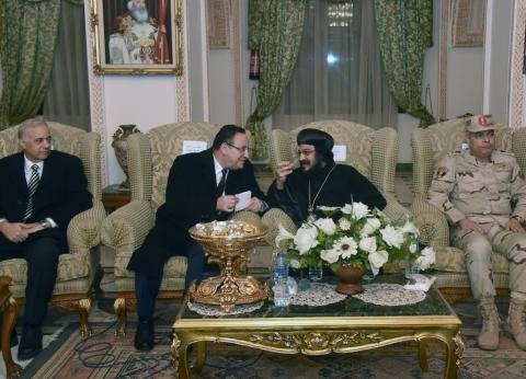 """محافظ الإسكندرية يحضر حفل """"الكنيسة المرقسية"""" للتهنئة بـ""""عيد الميلاد"""""""
