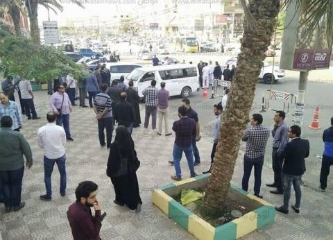 """تشييع جنازة المقدم أحمد فايز شهيد """"اشتباكات الواحات"""" من مسجد الحصري"""
