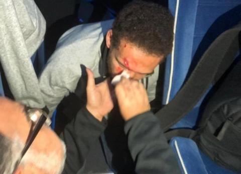 جراحة عاجلة في رأس لاعب الأهلي بعد اعتداء جماهير الترجى