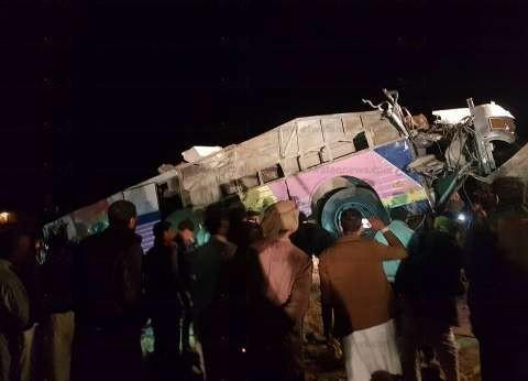 """""""صحة مطروح"""": خروج 11 مصابا في حادث أتوبيس الطريق الساحلي بمطروح"""