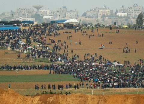 حصيلة اليوم الأول لمسيرة العودة شمال غزة: 15 شهيدا و1416 مصابا