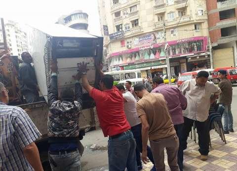 حملة مكبرة بوسط الإسكندرية لإزالة التعديات والمخالفات