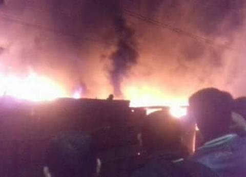 اشتعال النار بسيارتين في حريق جراج بسبب ماس كهربائي بالمنوفية