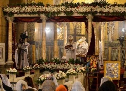 إقامة صلوات الجنازة على جثامين شهداء «حادث المنيا» بكنيسة الأمير تادرس