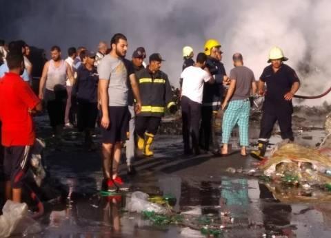 إخماد حريق في 5 محال بمنزل آيل للسقوط بالمنطقة التجارية ببورسعيد