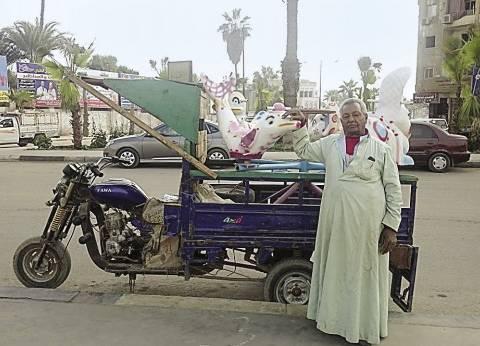 """حجز 29 عربة يد و19 """"تروسيكل"""" في حملة مرورية بالقاهرة"""