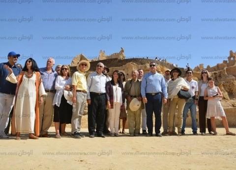 بالصور| وزير الآثار من سيوة: خطة لدعم وتطوير المناطق الأثرية