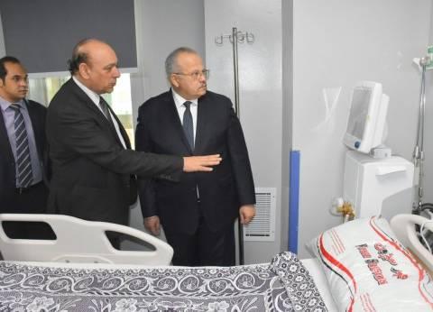 رئيس جامعة القاهرة يفتتح المرحلة الثالثة من مستشفى طوارئ قصر العيني