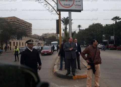 بالصور| مدير أمن الجيزة يتفقد الحالة المرورية