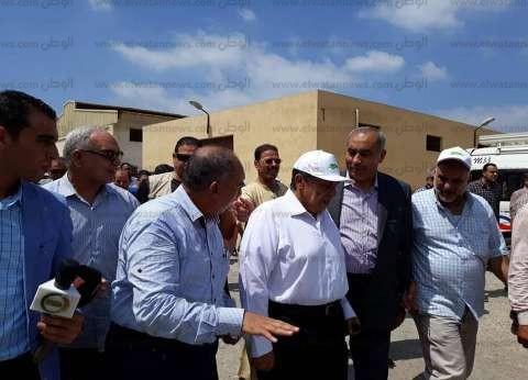 وصول وزير الزراعة إلى محطة الجميزة في الغربية