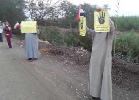 سلسلة بشرية لإخوان أم الرضا بدمياط لإحياء ذكرى 25 يناير