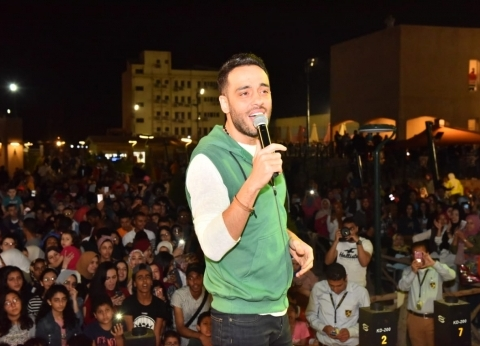 بالصور| رامي جمال يتألق في حفل شم النسيم بالإسكندرية